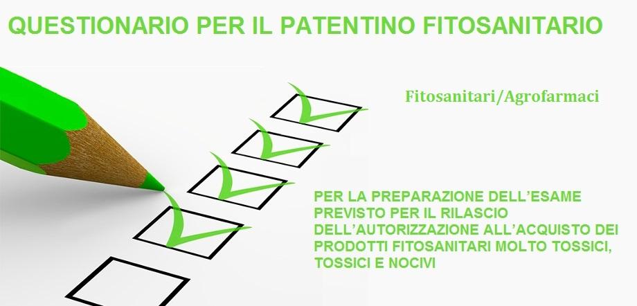 Questionario: Prodotti Fitosanitari/Agrofarmaci
