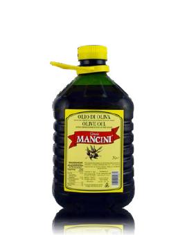 Olio di oliva Genesio Mancini – Gusto Arricchito – 4 pezzi da 3 Litri per confezione