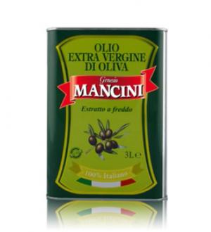 Olio extravergine di oliva Genesio Mancini – Estratto a freddo – 4 pezzi da 3 Litri per confezione (in latta)