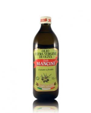 Olio extravergine di oliva Genesio Mancini – Estratto a freddo – 12 pezzi da 1 Litro per confezione (in vetro)