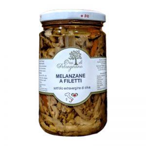 Melanzane a filetti sott'olio evo 0,3 Kg