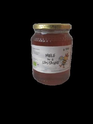 Miele BIO di castagno in vaso da 1000 g