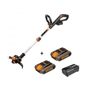 Decespugliatore WORX WG163E a batteria 20V con n° 2 batterie e caricabatterie